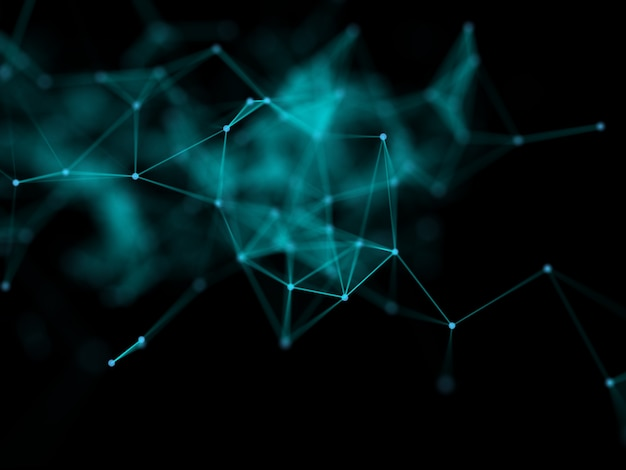 Render 3d de un fondo de comunicaciones de red