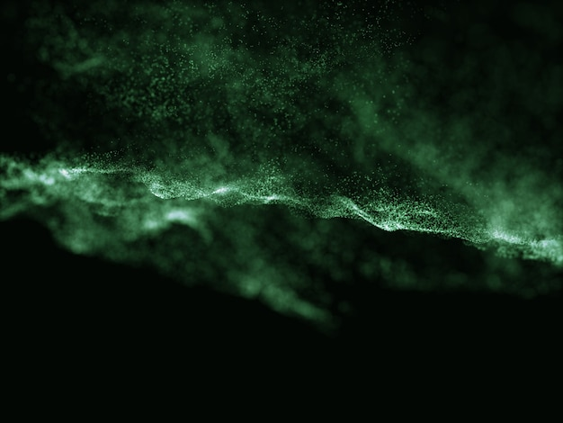 Render 3d de un fondo de diseño de partículas abstractas