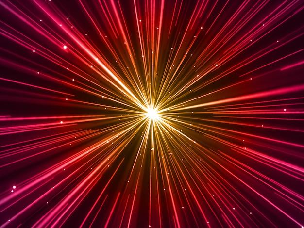 Render 3d de un fondo de efecto de zoom warp abstracto