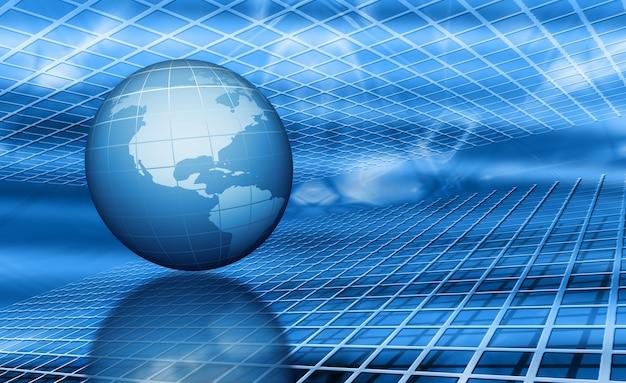 Render 3d del globo en abstracto