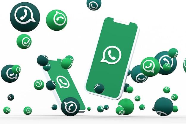 Render 3d del icono de whatsapp