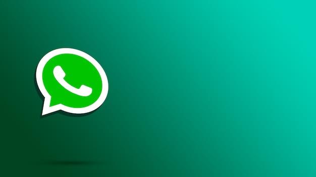 Render 3d del logo de whatsapp