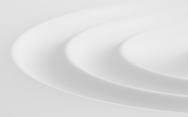 Render 3d de patrón abstracto blanco.