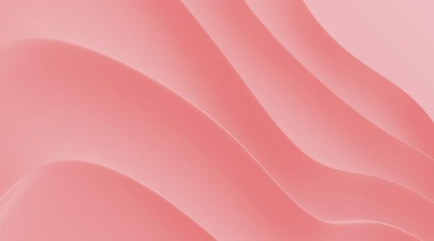Render 3d de patrón abstracto rosa.