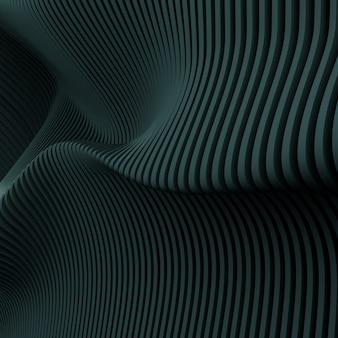 Render 3d de patrón paramétrico abstracto oscuro.