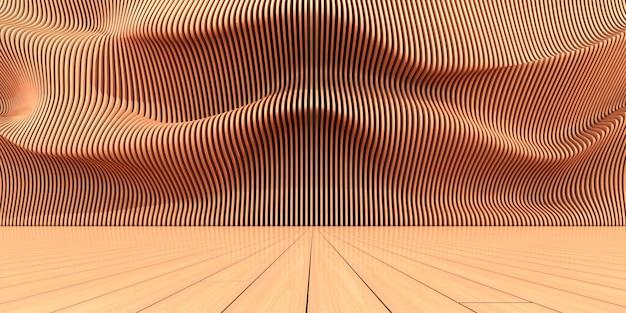 Render 3d de patrón paramétrico abstracto.