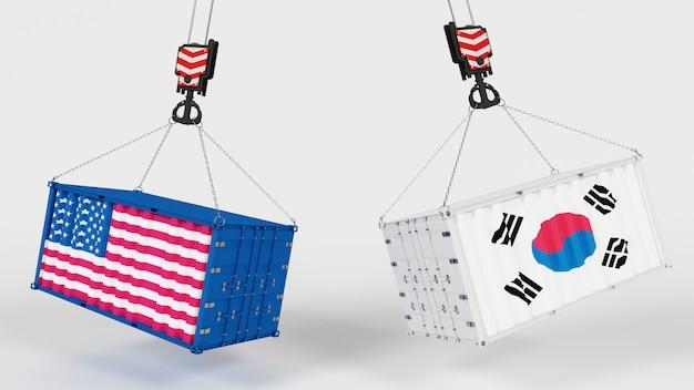 Render 3d que representa el comercio mundial