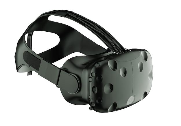 Render de googles de realidad virtual aislados