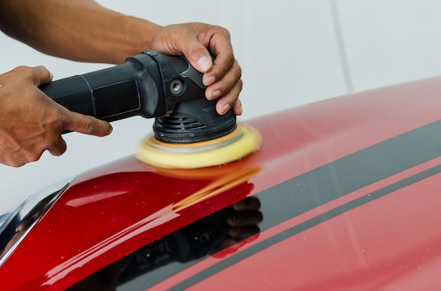 Reparación de arañazos de coches de pulido