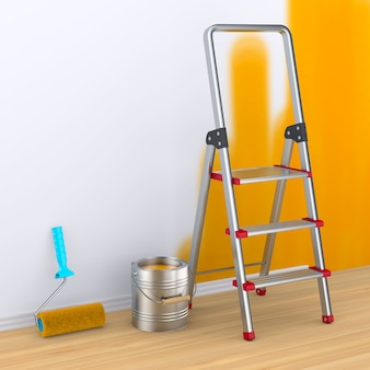 Reparación en habitación pintura de pared