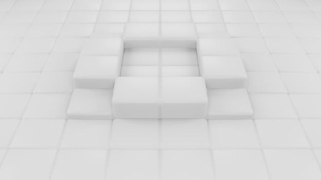 Representación 3d abstracta de fondo moderno de la composición de formas cuadradas geométricas