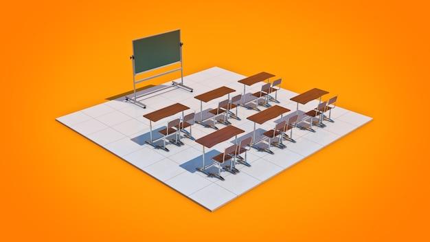 Representación 3d del aula