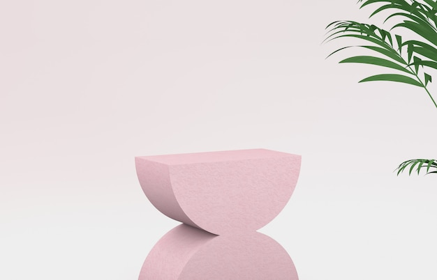 Representación 3d belleza natural telón de fondo para la exhibición de productos cosméticos.
