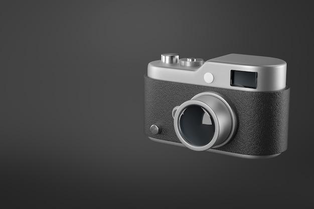 Representación 3d de la cámara del icono.