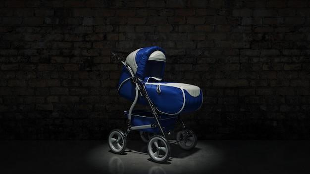 Representación 3d del carro de bebé