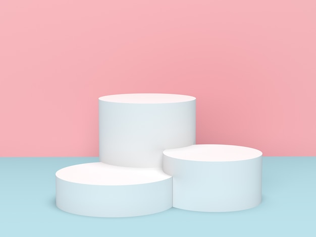 Representación 3d - cilindro de visualización de productos podio maqueta