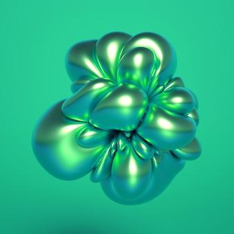 Representación 3d de una composición realista. esferas voladoras, toros, tubos, conos y cristales en movimiento. minimalismo de fondo de abstracción hermosa. ilustración 3d, renderizado 3d.