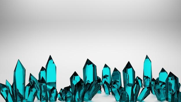 Representación 3d de cristales