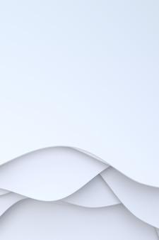 Representación 3d, diseño de fondo de arte de corte de papel blanco abstracto para plantilla de sitio web o plantilla de presentación.