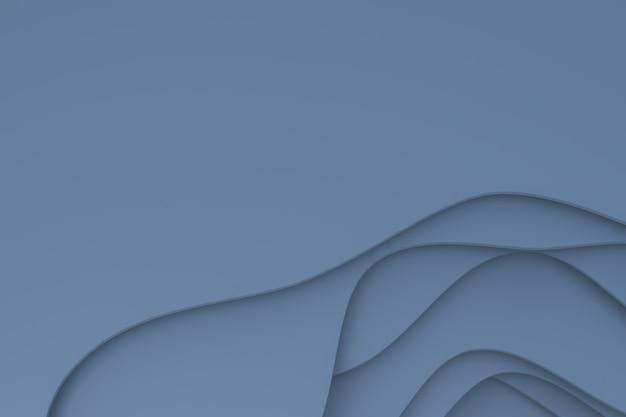 Representación 3d, diseño de fondo de arte de corte de papel gris abstracto para plantilla de sitio web o plantilla de presentación, fondo gris, espacio de copia vacía para fiesta, pancartas de promoción de redes sociales, carteles