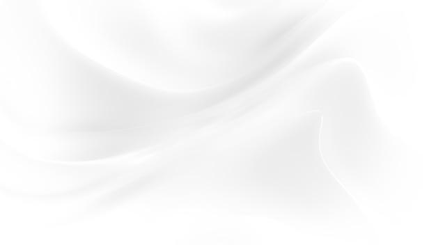 Representación 3d elegante fondo blanco con ondas de tela que fluye