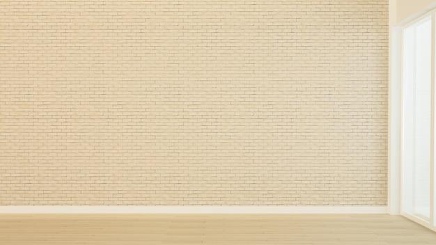La representación 3d del espacio de la habitación vacía