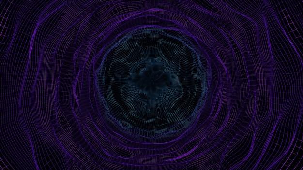 Representación 3d fondo abstracto espectral colorido místico estructura metálica dimensional