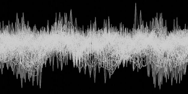Representación 3d del fondo abstracto geométrico de la onda acústica de la onda de energía eléctrica