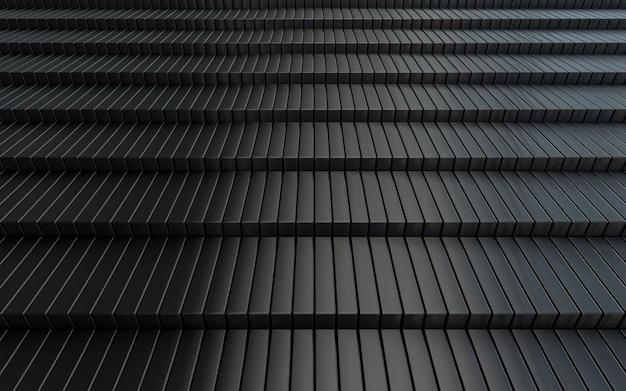 Representación 3d de fondo abstracto de lujo oscuro