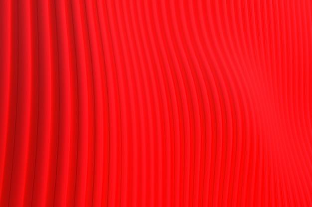 Representación 3d, fondo de arquitectura de onda de pared abstracta roja, fondo rojo para presentación, cartera, sitio web