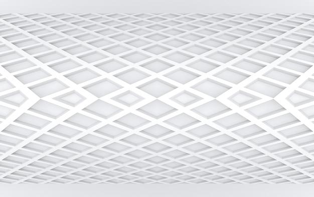 Representación 3d fondo cuadrado gris pelado moderno del diseño de la pared del panel de la curva.
