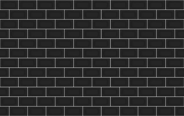 Representación 3d. fondo de diseño de pared de pila de bloques de ladrillo rectángulo oscuro moderno transparente.