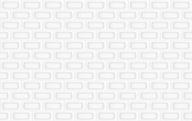 Representación 3d. fondo de diseño de textura de pared de superficie de mampostería de bloque de ladrillo blanco transparente moderno.