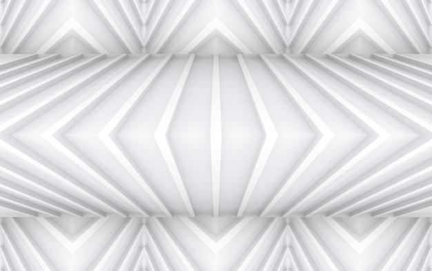 Representación 3d fondo gris pelado moderno del diseño de la pared del panel de la curva del triángulo.