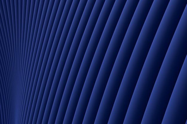 Representación 3d, fondo de lujo azul de arquitectura de onda de pared abstracta, fondo de lujo azul para presentación, cartera, sitio web