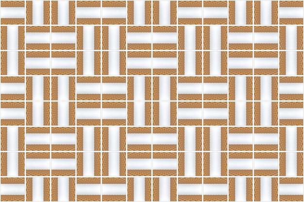Representación 3d fondo de pared de azulejos sin fisuras patrón de cuadrícula de madera moderna diseño diseño.