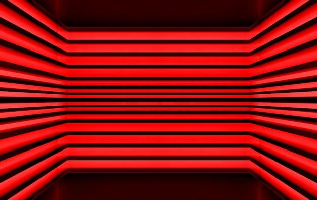 Representación 3d, fondo de pared de patrón de panel de tono rojo oscuro,