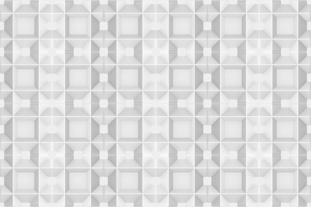 Representación 3d fondo de textura de diseño de pared de patrón de cuadrícula cuadrada gris blanco moderno transparente.