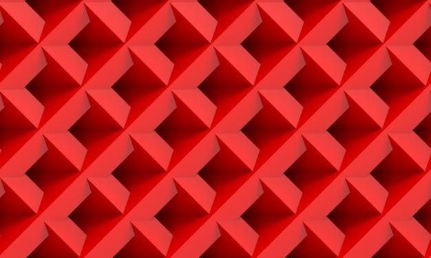 Representación 3d fondo de textura de pared de mosaico de cuadrícula roja perfecta moderna