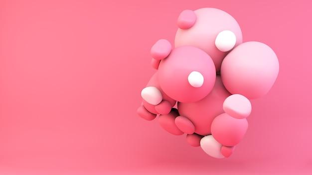 Representación 3d de forma de plastercine abstracto rosa
