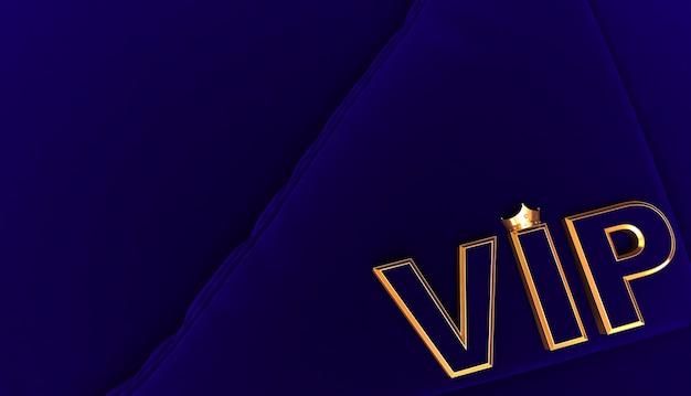 Representación 3d de golden vip crown, royal gold vip crown on bleu pillow, crown vip