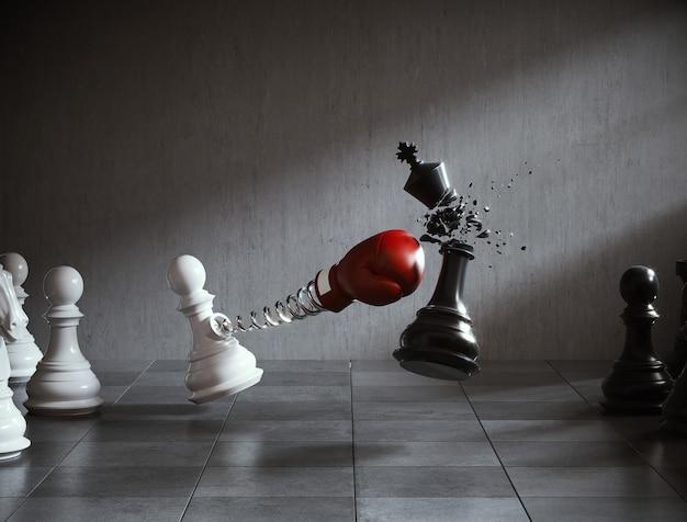 Representación 3d de un juego de ajedrez