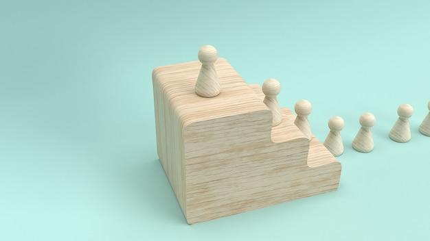 Representación 3d del juguete de madera para el concepto del negocio.