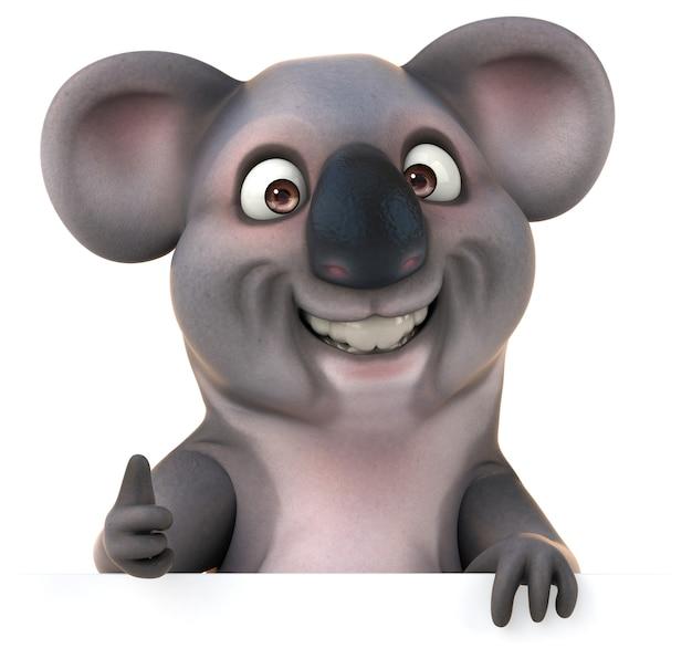Representación 3d de koala divertido