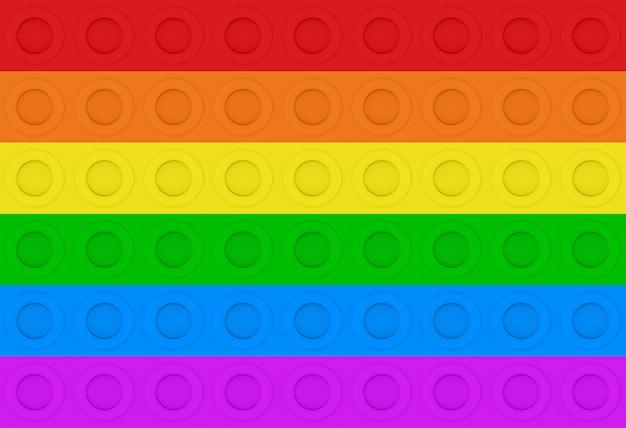 Representación 3d lgbt arco iris círculo colorido patrón de pared de fondo.