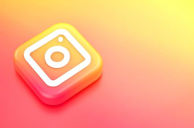 Representación 3d del logo de instagram