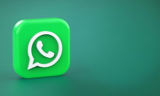Representación 3d del logo de whatsapp
