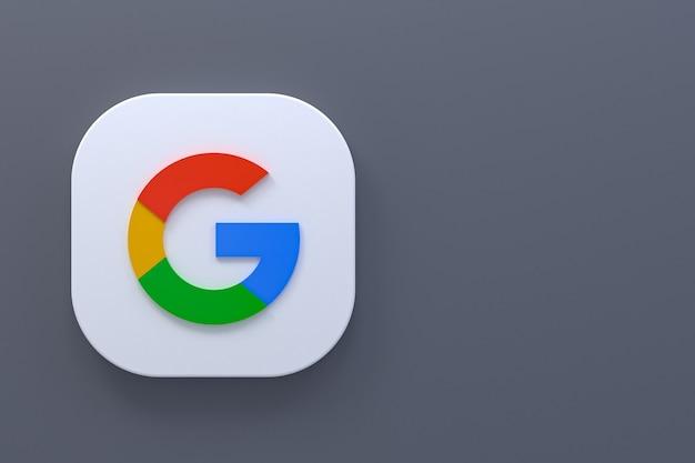 Representación 3d del logotipo de la aplicación de google