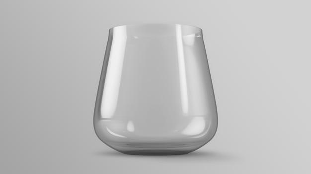 Representación 3d de maqueta de vaso de agua