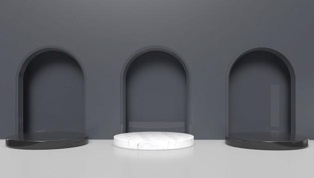 Representación 3d minimalista forma geométrica abstracta. ilustración